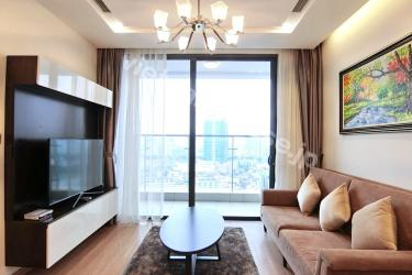 A two-bedroom serviced apartment at Vinhomes Metropolis