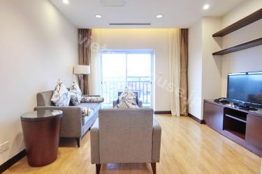 A three-bedroom serviced apartment in Hoa Binh Green is ready for you and your family