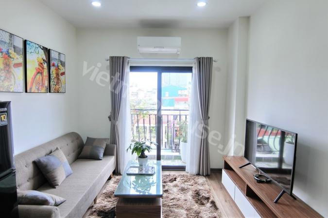 Get natural light into the whole two-bedroom apartment in Ba Dinh district
